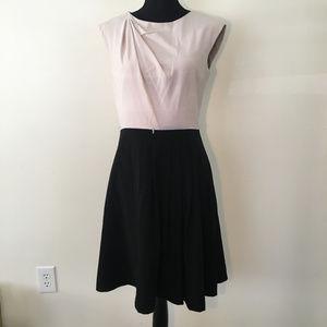 Calvin Klein Cream & Black Sleeveless Dress Swing
